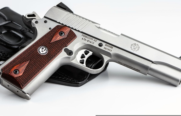 Photo wallpaper SR1911, Ruger, semi-automatic, pistol, United States, holster, gun