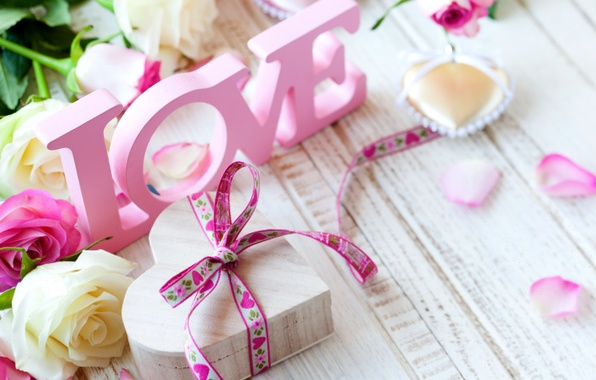 Picture love, romance, heart, roses, love, rose, heart, pink, romantic, Valentine's Day
