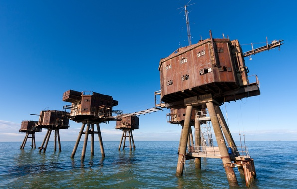 Photo wallpaper sea, the sky, Maunsell Army Sea Forts