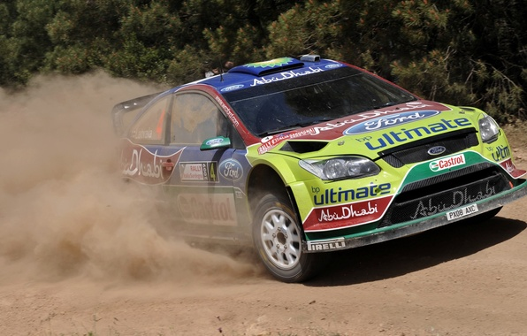 Picture Ford, Auto, Dust, Focus, Rally, Focus, The front, Latvala