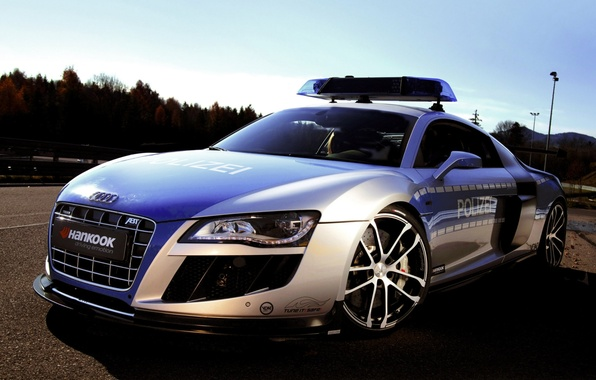 Picture the sky, Audi, audi, tuning, police, concept, the concept, police, tuning, the front, ABT, Abbot