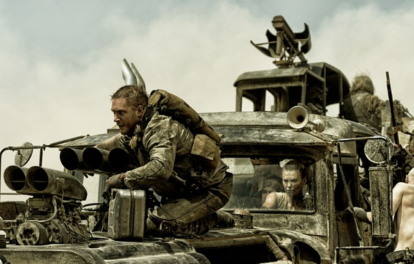 Picture Charlize Theron, chase, truck, Charlize Theron, Tom Hardy, Tom Hardy, Mad Max, Fury Road, Mad …