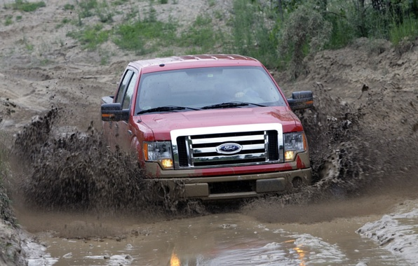 Picture dirt, ford, pickup, f150