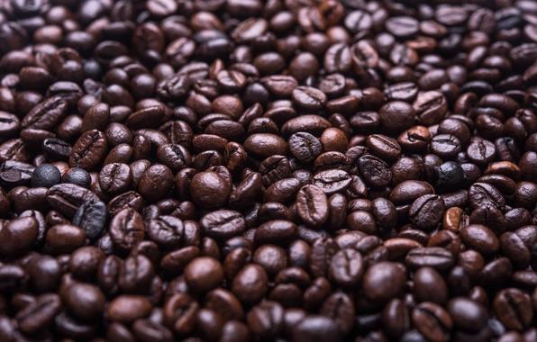 Picture coffee, grain, a lot