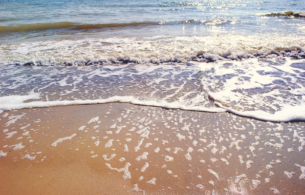 Picture sand, sea, wave, beach, shore, summer, beach, sea, blue, sand, shore, paradise