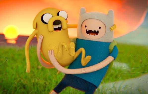 Picture the sun, Wallpaper, dog, art, art, animation, jake, cartoon network, adventure time, Adventure time, Jake, …