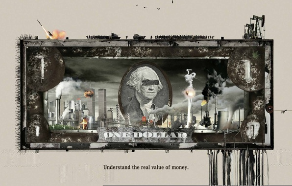Picture money, dollar, policy, Understand the real value of money