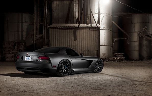 Picture black, Matt, Dodge, black, Viper, Dodge, Viper, the rear part, SRT10