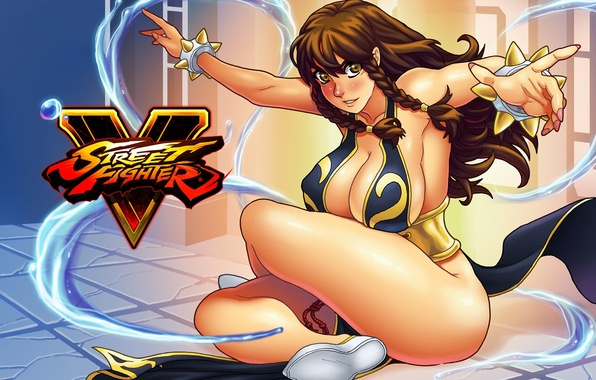 Picture ass, chest, girl, feet, art, fan art, Chun-Li, street fighter 5