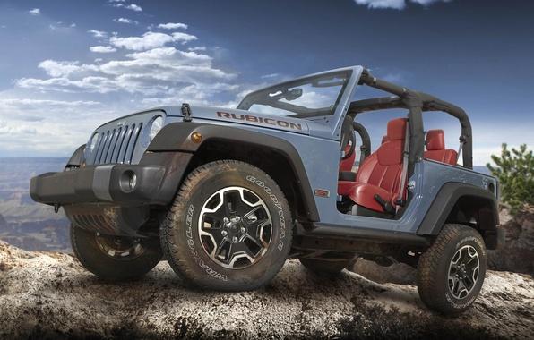 Picture Jeep, the front, Wrangler, Ringler, Jeep, Rubicon, 10th Anniversary