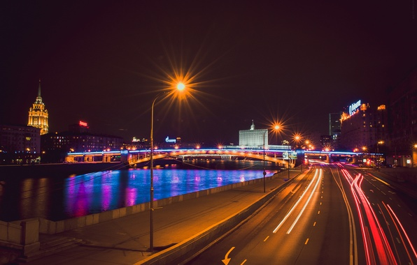 Picture night, Moscow, night city, Moscow at night, the city at night