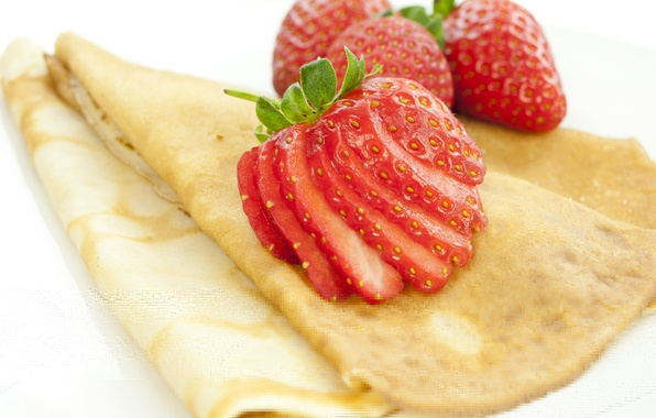 Picture berries, strawberry, pancakes