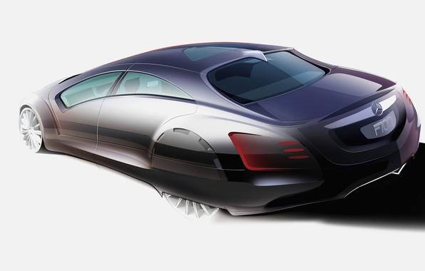 Picture design, figure, Mercedes-Benz, F700, the concept