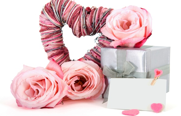 Picture flower, love, tape, holiday, box, gift, heart, roses, bouquet, love, box, flower, heart, gift, holiday, ...