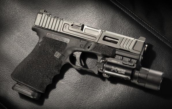 Photo Wallpaper Mark 1 Background Glock 17 Flashlight Gun