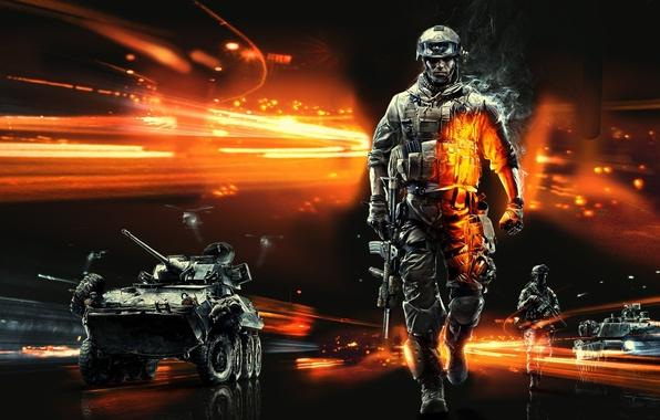 Picture machine, soldiers, Battlefield, Battlefield 3