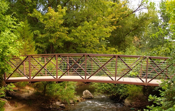 Picture greens, bridge, stream