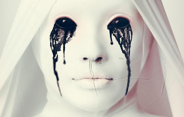 Picture horror, woman, series, face, spirit, statue, teeth, American Horror Story, TV serie, marble, season 2, …