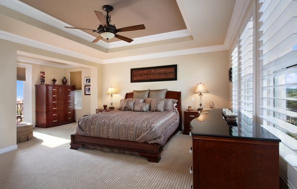 Picture design, photo, lamp, bed, interior, pillow, chandelier, bedroom