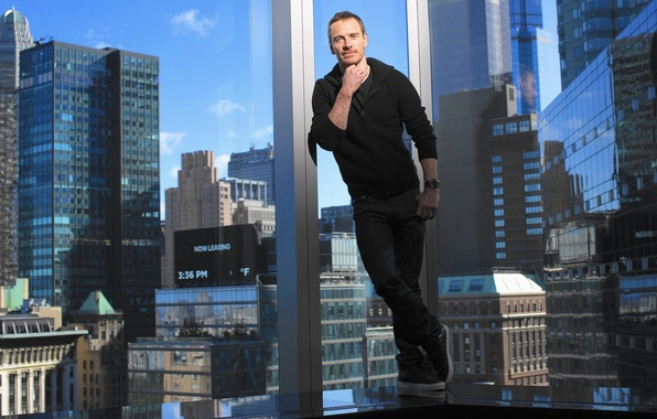 Picture the city, the building, Windows, home, photographer, actor, photoshoot, Michael Fassbender, Michael Fassbender, Los Angeles …