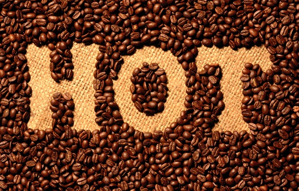 Picture the inscription, coffee, Hot