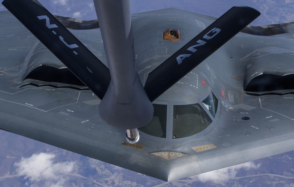 Picture flight, bomber, Northrop, strategic, refueling, B-2 Spirit
