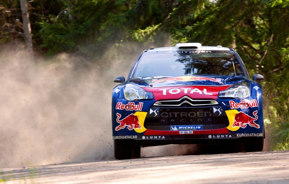 Picture Auto, Sport, Machine, Citroen, The hood, Skid, Citroen, Lights, Red Bull, DS3, WRC, Rally, Rally, …