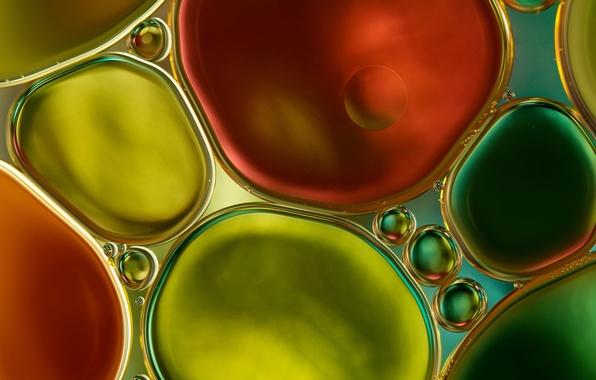 Picture water, bubbles, color, oil, liquid, the air, the volume, uruski