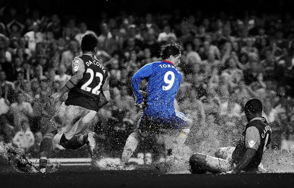 Picture drops, rain, England, goal, Football, Premier League, Chelsea, England, Chelsea, Stamford Bridge, West Ham, Torres, …