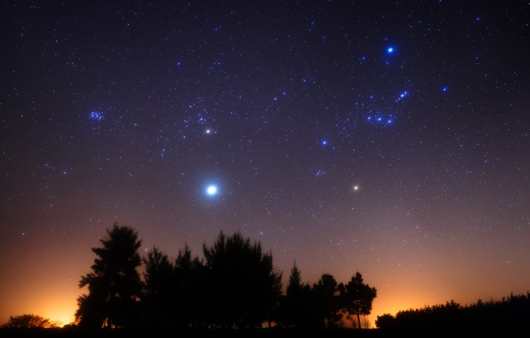 Picture Jupiter, Argentina, Orion, The Pleiades, Southern hemisphere, Rigel, Aldebaran, Betelgeuse, M42