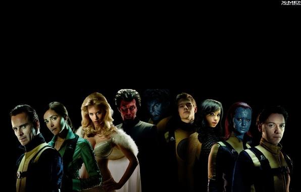 Wallpaper Olivia Munn, storm, raven, angel, James McAvoy, Michael