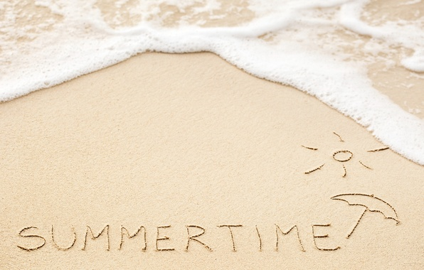 Picture sand, sea, beach, summer, the inscription, summer, beach, sea, sand, vacation