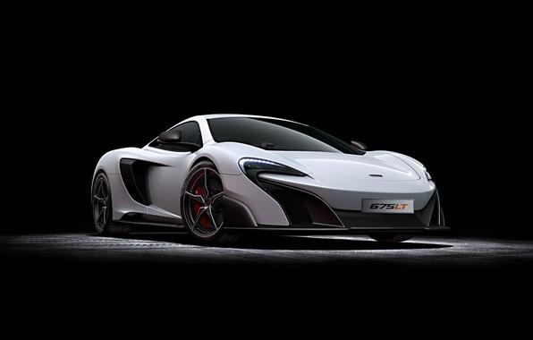 Picture McLaren, white, McLaren, 2015, 675LT