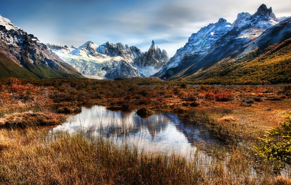 Picture snow, mountains, rocks, nature, Chile, mountains, the sky., Chile, Patagonia, Patagonia