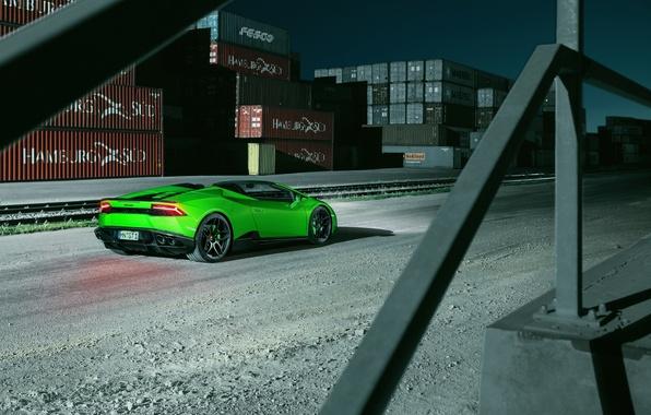 Picture car, auto, green, Wallpaper, Lamborghini, Spyder, wallpapers, back, Lamborghini, Novitec, Torado, Huracan