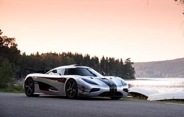 Picture auto, the sky, trees, Wallpaper, Koenigsegg, supercar, One:1