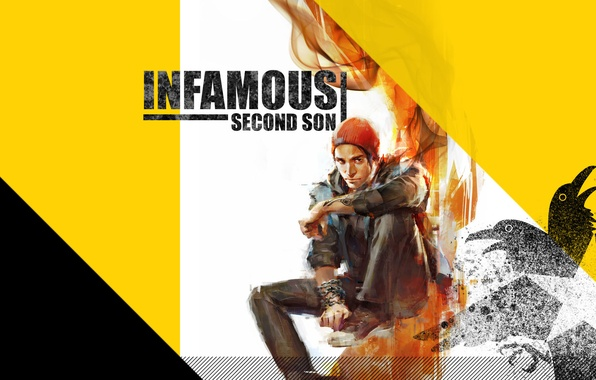 Picture hat, smoke, star, chain, guy, Raven, inFamous: Second Son, Delsin Rowe, Delsin Rowe, Game Informer, …