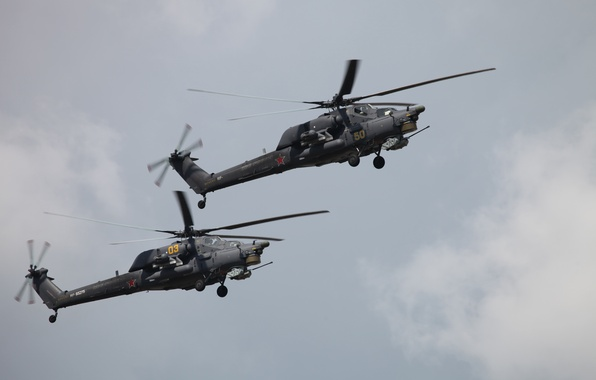 Picture helicopter, the Russian air force, Mi-28N, Havoс, aerobatic team Berkuty