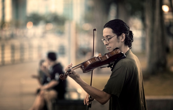 Picture music, street, violin