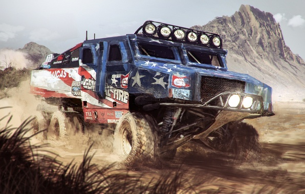 Picture art, Nick Foreman, RG-33 Trophy Truck