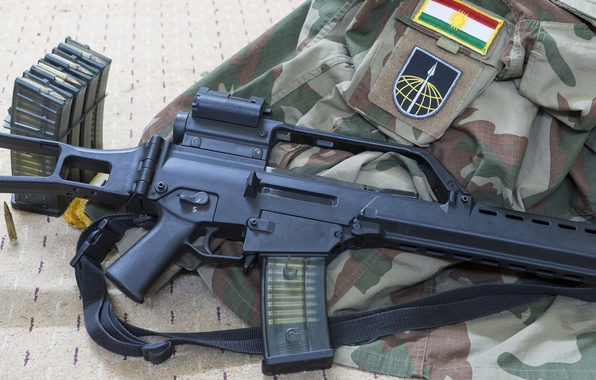 Picture weapons, machine, camouflage, rifle, assault, HK G36