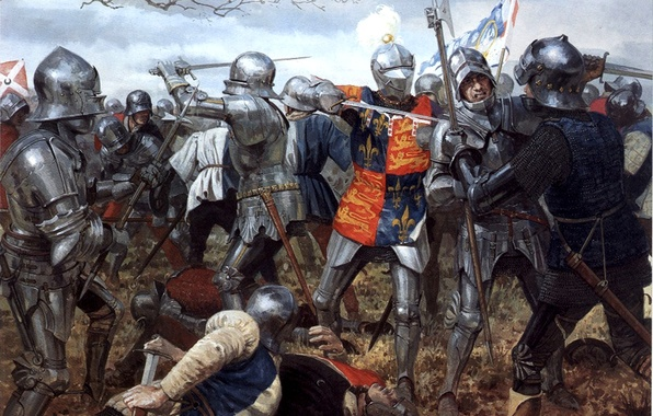 Picture figure, armor, swords, knights, spears, chain mail, the key battle of the war of the …