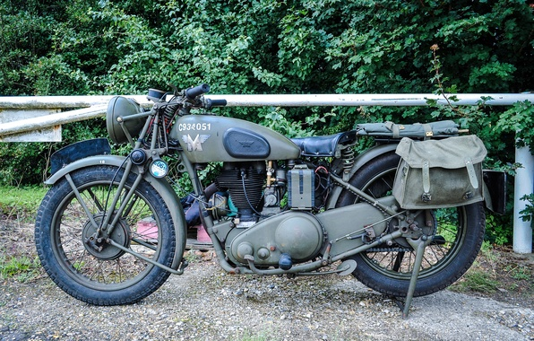 Picture war, motorcycle, military, world, Second, times, Matchless G3