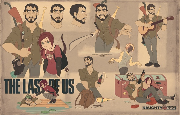 Picture weapons, Ellie, art, The Last of Us, Joel, Naughty Dog, PlayStation 3, Some of us, …