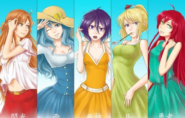 Picture girls, bleach, anime, art, fairy tail, gintama, kuchiki rukia, sword art online, yuuki asuna, juvia …