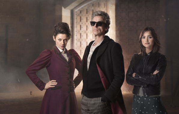 Photo wallpaper look, girl, woman, actress, glasses, actor, male, actors, Doctor Who, Doctor Who, Peter Capaldi, Peter ...
