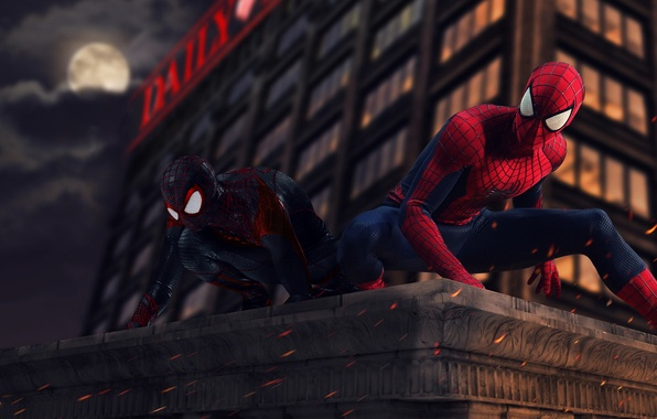 Wallpaper Spider Man Peter Parker Miles Morales Ultimate Spider