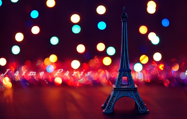 Picture Eiffel tower, Paris, bokeh