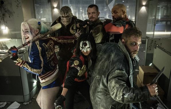 Picture Bad, Men, Girls, Guns, Will Smith, Women, Team, harley quinn, Weapons, DC Comics, Movie, Katana, …