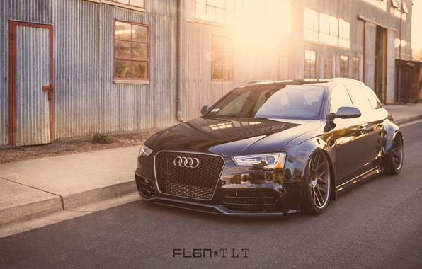 Picture machine, auto, Audi, black, Audi A4